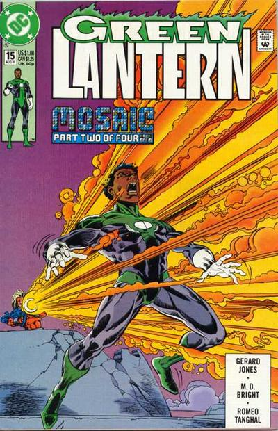 Cover for Green Lantern (DC, 1990 series) #15 [Newsstand]