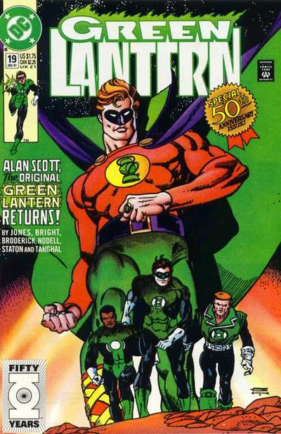 Cover for Green Lantern (DC, 1990 series) #19 [Newsstand]