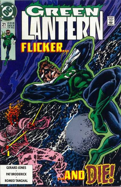 Cover for Green Lantern (DC, 1990 series) #21 [Newsstand]