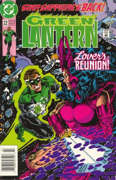Cover for Green Lantern (DC, 1990 series) #22 [Direct Sales]