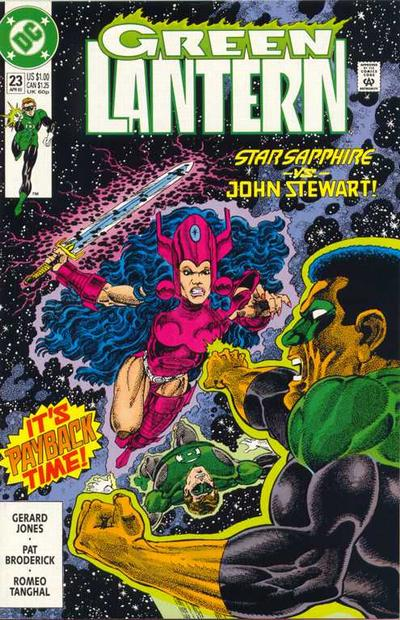Cover for Green Lantern (DC, 1990 series) #23 [Newsstand]