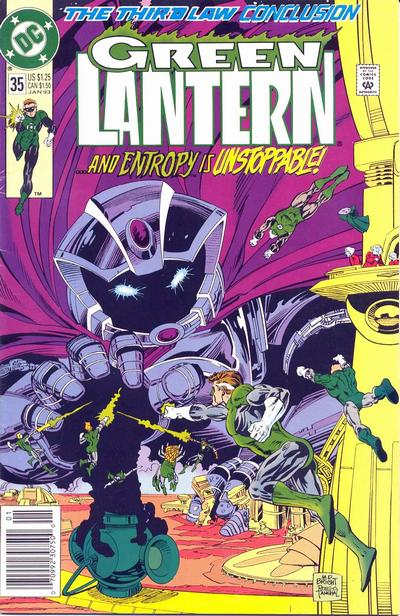 Cover for Green Lantern (DC, 1990 series) #35 [Direct Edition]