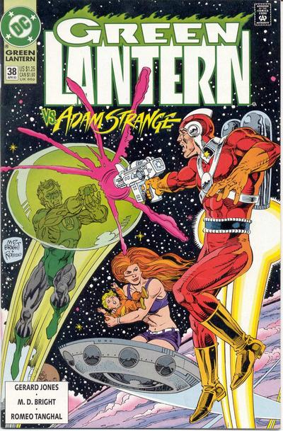 Cover for Green Lantern (DC, 1990 series) #38