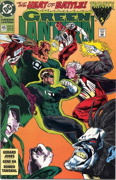 Cover for Green Lantern (DC, 1990 series) #45 [Direct]