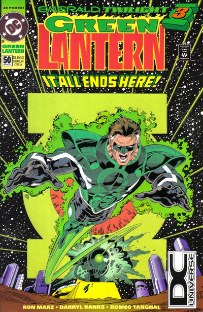 Cover for Green Lantern (DC, 1990 series) #50 [DC Universe Box]