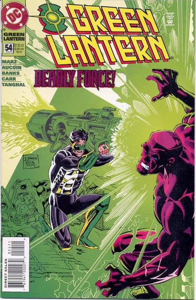 Cover for Green Lantern (DC, 1990 series) #54 [Newsstand]