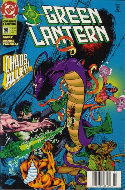Cover for Green Lantern (DC, 1990 series) #58 [Direct Sales]