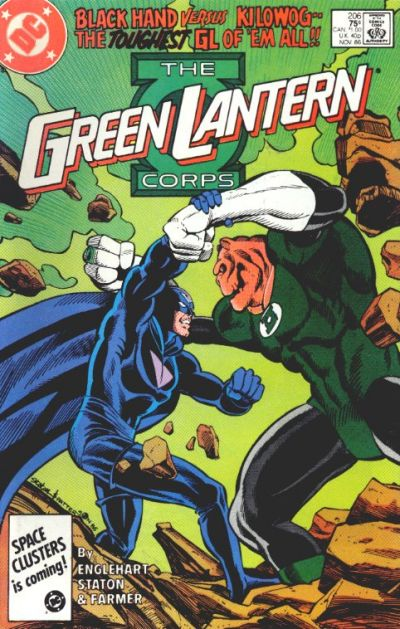 Cover for The Green Lantern Corps (DC, 1986 series) #206 [Direct Edition]