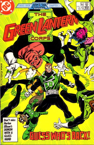 Cover for The Green Lantern Corps (DC, 1986 series) #207 [Newsstand Edition]