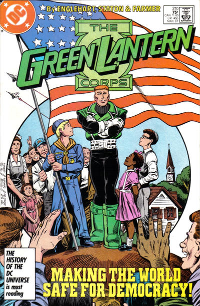 Cover for The Green Lantern Corps (DC, 1986 series) #210 [Direct Edition]