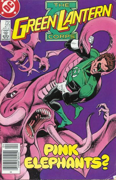 Cover for The Green Lantern Corps (DC, 1986 series) #211 [Direct Edition]