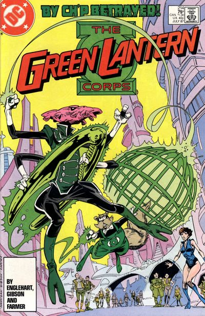 Cover for The Green Lantern Corps (DC, 1986 series) #214 [Direct Edition]