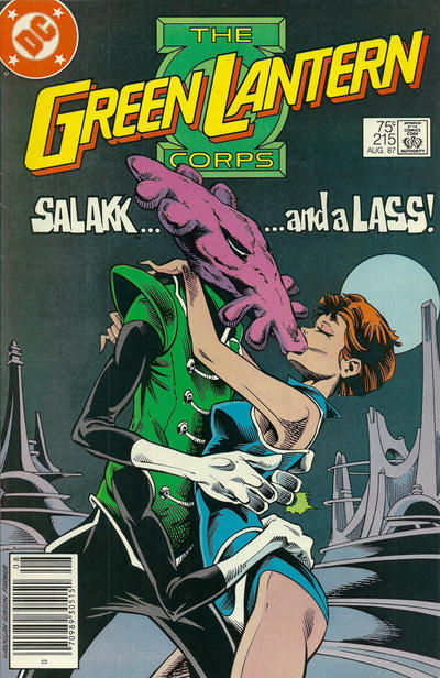 Cover for The Green Lantern Corps (DC, 1986 series) #215 [Direct Edition]