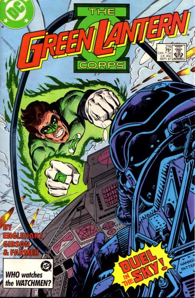 Cover for The Green Lantern Corps (DC, 1986 series) #216 [Newsstand]