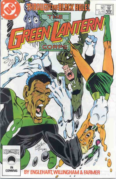 Cover for The Green Lantern Corps (DC, 1986 series) #218 [Direct Edition]