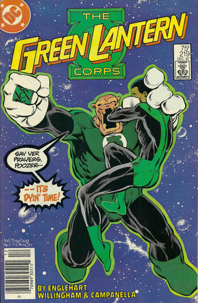 Cover for The Green Lantern Corps (DC, 1986 series) #219 [Direct Edition]
