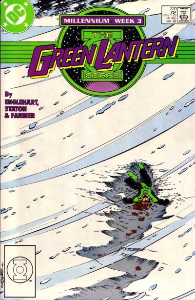 Cover for The Green Lantern Corps (DC, 1986 series) #220 [Newsstand Edition]