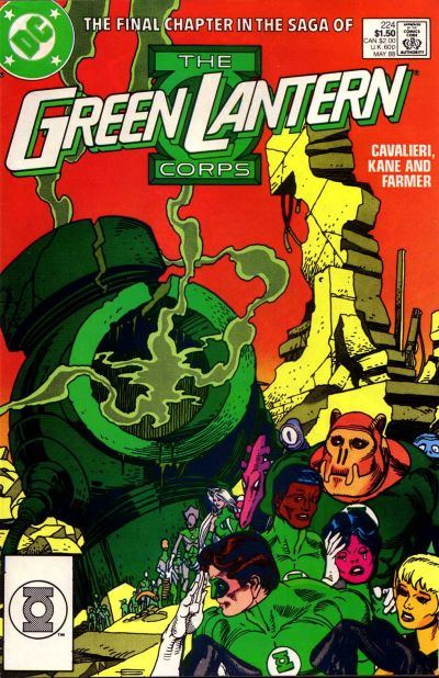 Cover for The Green Lantern Corps (DC, 1986 series) #224 [Direct]