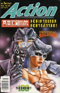 Cover for Actionserien (Atlantic Förlags AB; Pandora Press, 1991 series) #1/1992