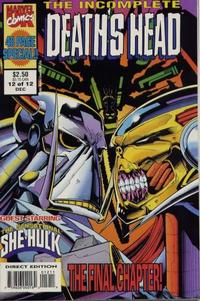 Cover Thumbnail for The Incomplete Death's Head (Marvel, 1993 series) #12