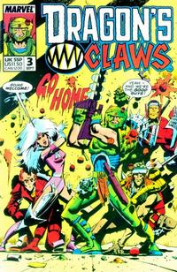 Cover Thumbnail for Dragon's Claws (Marvel, 1988 series) #3