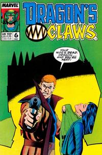 Cover Thumbnail for Dragon's Claws (Marvel, 1988 series) #6