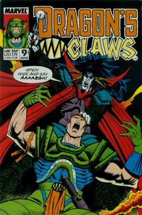 Cover Thumbnail for Dragon's Claws (Marvel, 1988 series) #9