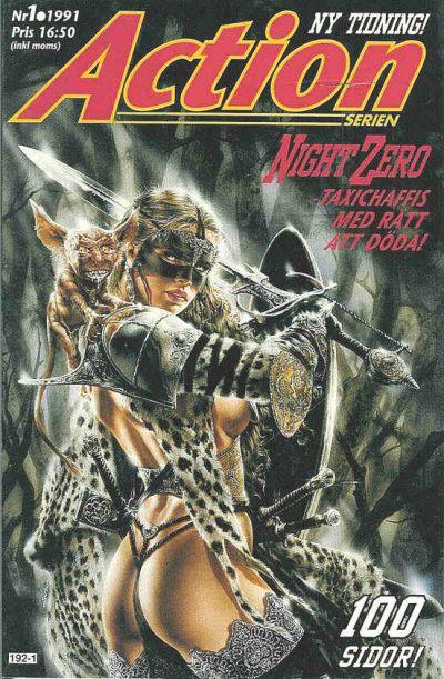 Cover for Actionserien (Atlantic Förlags AB; Pandora Press, 1991 series) #1/1991