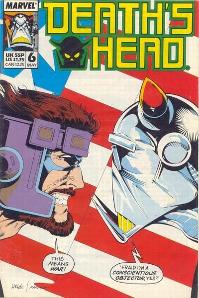 Cover for Death's Head (Marvel UK, 1988 series) #6