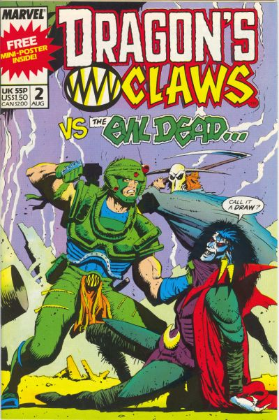 Cover for Dragon's Claws (Marvel, 1988 series) #2