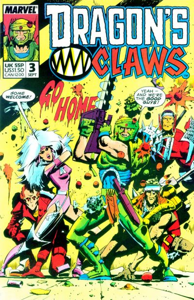 Cover for Dragon's Claws (Marvel, 1988 series) #3