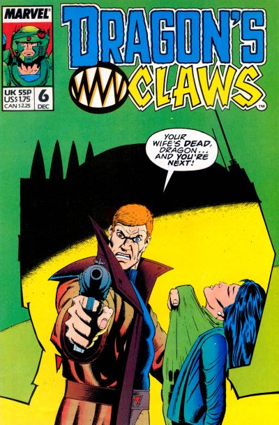 Cover for Dragon's Claws (Marvel, 1988 series) #6