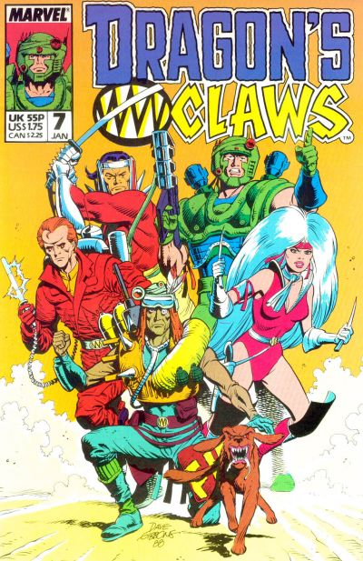 Cover for Dragon's Claws (Marvel, 1988 series) #7