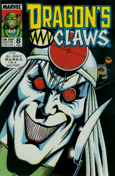 Cover for Dragon's Claws (Marvel, 1988 series) #8