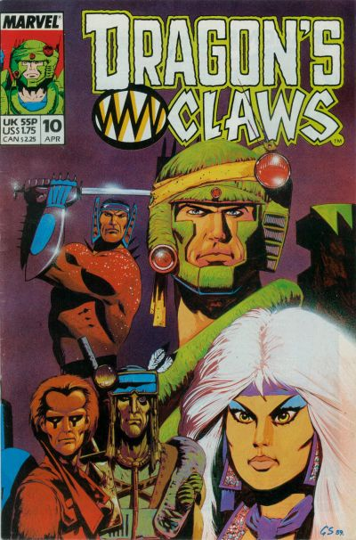 Cover for Dragon's Claws (Marvel, 1988 series) #10