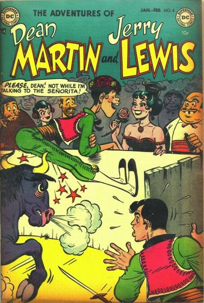 Cover for The Adventures of Dean Martin & Jerry Lewis (DC, 1952 series) #4