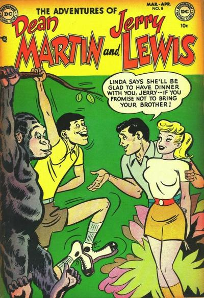 Cover for The Adventures of Dean Martin & Jerry Lewis (DC, 1952 series) #5