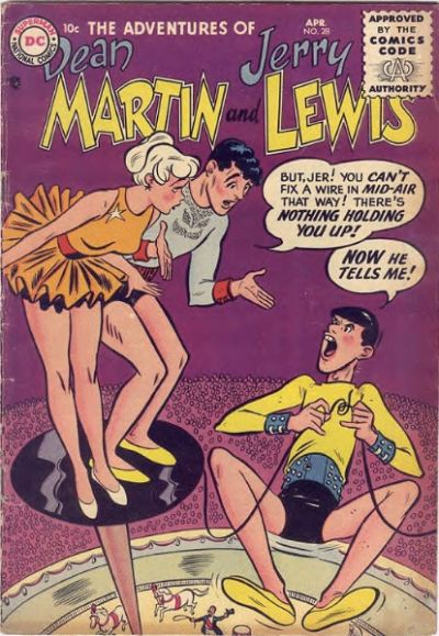 Cover for The Adventures of Dean Martin & Jerry Lewis (DC, 1952 series) #28