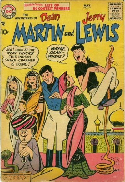 Cover for The Adventures of Dean Martin & Jerry Lewis (DC, 1952 series) #37