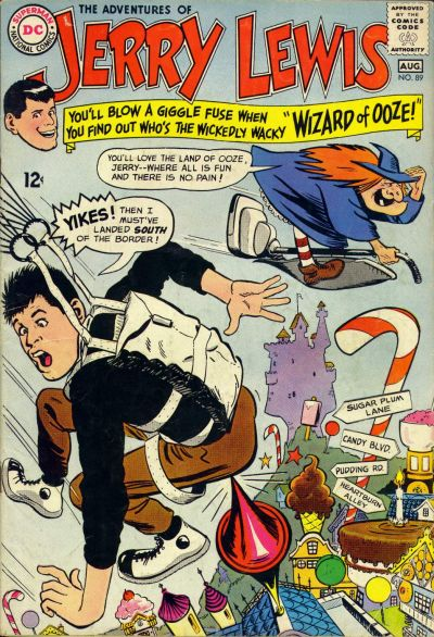 Cover for The Adventures of Jerry Lewis (DC, 1957 series) #89