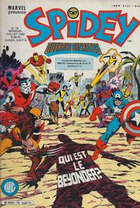 Cover Thumbnail for Spidey (Editions Lug, 1979 series) #78