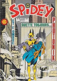 Cover Thumbnail for Spidey (Editions Lug, 1979 series) #85