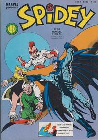 Cover Thumbnail for Spidey (Editions Lug, 1979 series) #93