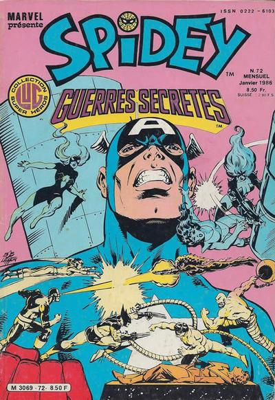 Cover for Spidey (Editions Lug, 1979 series) #72
