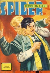 Cover Thumbnail for Spider (Serieforlaget / Se-Bladene / Stabenfeldt, 1968 series) #1/1972