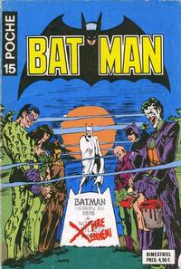 Cover Thumbnail for Batman Poche (Sage - Sagédition, 1976 series) #15