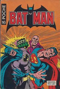 Cover Thumbnail for Batman Poche (Sage - Sagédition, 1976 series) #16
