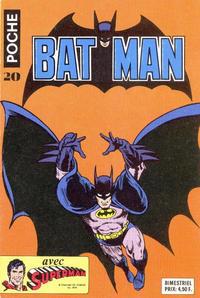 Cover Thumbnail for Batman Poche (Sage - Sagédition, 1976 series) #20