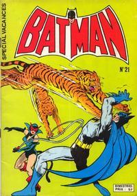 Cover for Batman Poche (Sage - Sagédition, 1976 series) #21