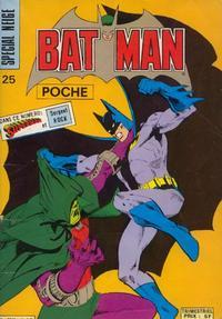 Cover Thumbnail for Batman Poche (Sage - Sagédition, 1976 series) #25
